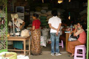 ヤンゴン市場