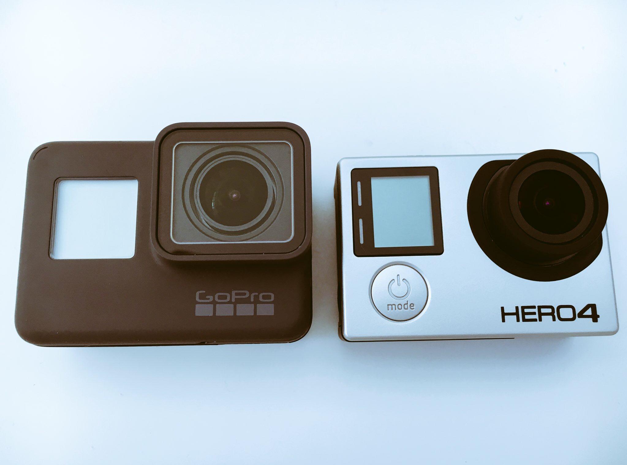 gopro hero5 blackとhero4 black徹底外観比較
